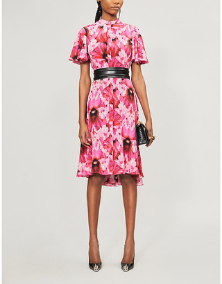 Alexander McQueen Endangered floral-print silk midi dress