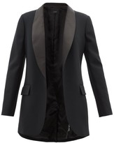 Joseph Clapton Satin-lapel Twill Tuxedo - Womens - Black