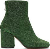 Maison Margiela Green Metallic Ankle Boots