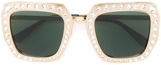 Gucci Crystal Embellished Oversized Sunglasses