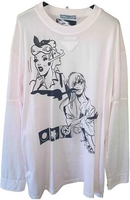 Prada Pink Cotton T-shirts