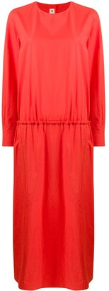 Marni Ruched Cotton Maxi Dress