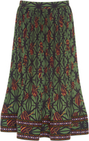 Stella Jean Micro Pleated Flared Skirt