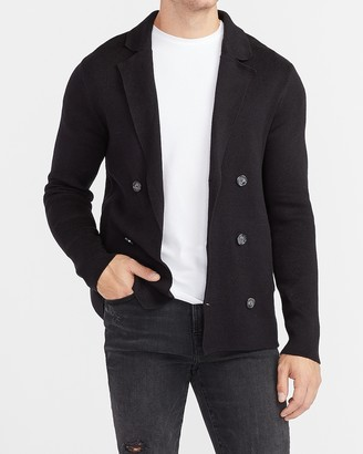Express Solid Double Breasted Cardigan