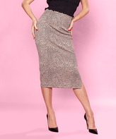 Bettie Page Gold Spotted Pencil Skirt