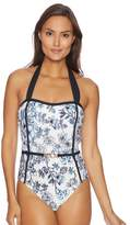 Athena Garden Party Belted Bandeau Maillot