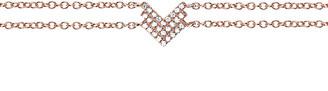 Ef Collection 14K Diamond Shield Chain Bracelet