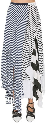 Loewe Striped Cotton Blend Jersey Skirt