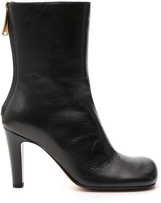 Bottega Veneta Heeled Square Toe Ankle Boots