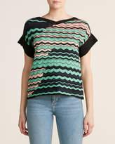 M Missoni Mint Zigzag Sweater