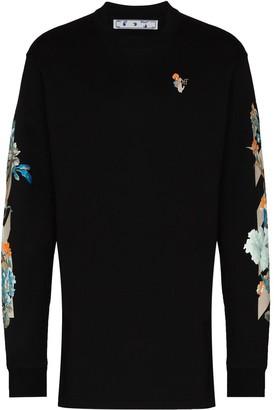 Off-White x Browns 50 floral detail sweatshirt dress