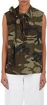 MM6 MAISON MARGIELA Women's Camouflage-Print Twill Self-Tie Top