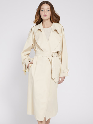 Alice + Olivia ADRIEN LONG TRENCH COAT