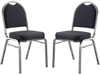 Banquet Chair with cushion National Public Seating Frame Finish: Silvervein