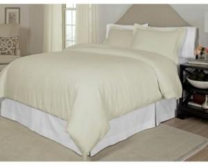 Pointehaven Printed King/California King Duvet Set, 300 Thread Count Cotton Sateen Bedding