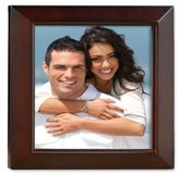 Lawrence Frames Estero Collection, Walnut Wood 5 by 5 Picture Frame