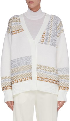3.1 Phillip Lim 'Fairisle' panelled patchwork cardigan