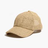 Madewell Straw Baseball Cap