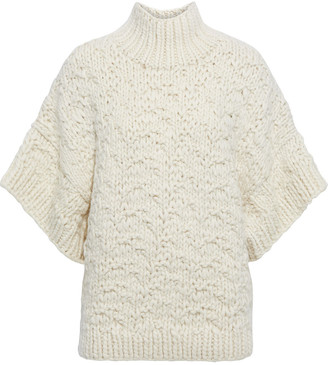 IRO Klytar Brushed Cable-knit Wool Sweater