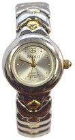 Gucci 797TS Stainless Steel and Yellow Gold Silver Dial 22mm Womens Watch