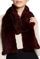 Surell Genuine Rabbit Fur Knit Scarf