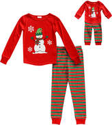 Dollie & Me Red Snowman Pajama Set & Doll Outfit - Toddler & Girls