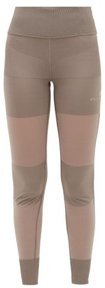 adidas by Stella McCartney High-rise Mesh-panel Leggings - Womens - Brown