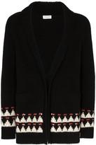 Saint Laurent intarsia knit cardigan