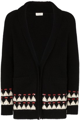 Saint Laurent intarsia knit cardigan
