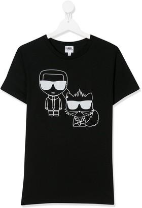 Karl Lagerfeld Paris TEEN cotton graphic print T-shirt