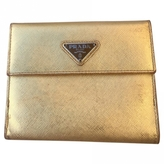 Prada Gold Leather Wallet