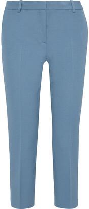 Theory Cropped Pique Slim-leg Pants