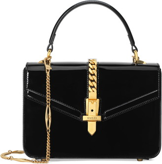 Gucci Mini Sylvie 1969 Patent Leather Top Handle Bag