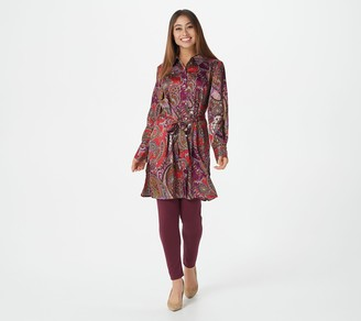 Susan Graver Regular Printed Stretch Charmeuse Duster