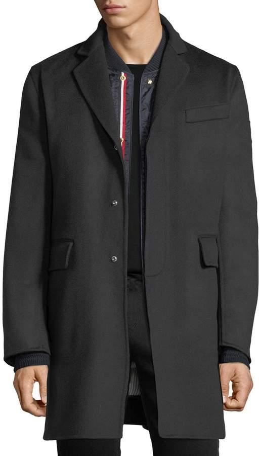 Moncler Gamme Bleu Chesterfield Wool Coat
