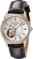 Rotary Women's ls90515/41 Analog Display Swiss Automatic Brown Watch