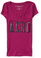 Aeropostale Aero Shine V-Neck Graphic T