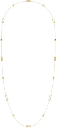 Lmj Traffic Light Necklace In 14 Kt Yellow Gold Vermeil On Sterling Silver