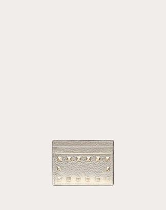 Valentino Rockstud Card Holder Women Platinum 100% Pelle Di Vitello - Bos Taurus OneSize