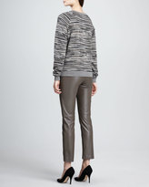 Trina Turk Straight-Leg Cropped Leather Pants