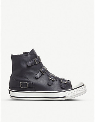 Ash Virgin leather high-top trainers