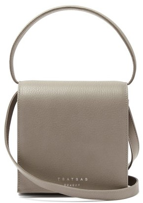 Tsatsas Malva 2 Grained-leather Cross-body Bag - Grey