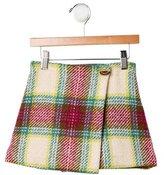 Burberry Girls' Plaid Wool Skirt