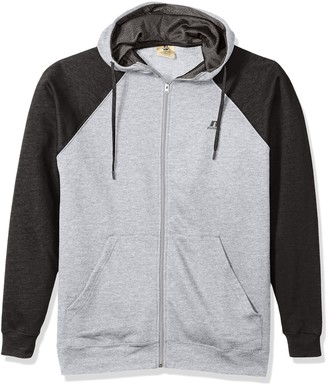 Russell Athletic Men's Big and Tall Full Zip Raglan Hood with Drawstring