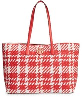 Tory Burch Duet Woven Leather Tote - Red