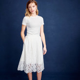 J.Crew Collection floral lace skirt