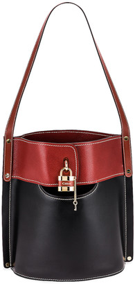 Chloé Aby Bicolor Bucket Bag in Black | FWRD