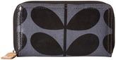 Orla Kiely Shiny Laminated Solid Stem Print Big Zip Wallet