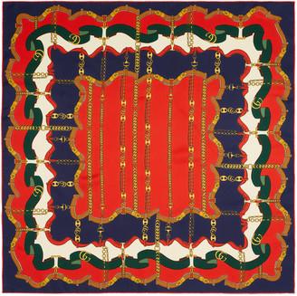 Gucci Marina chain print silk scarf