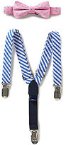 Starting Out Baby Boys Dotted Bow Tie & Striped Suspenders Set